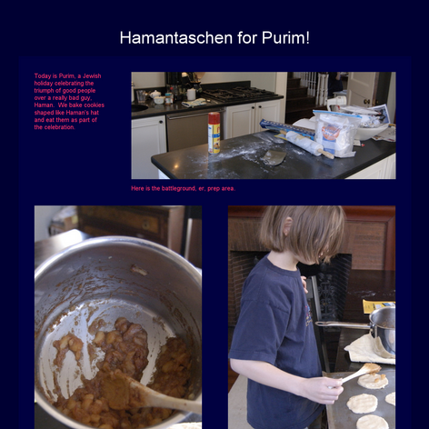 Tabblo: Hamantaschen for Purim!