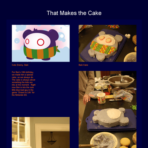 Tabblo: That Makes the Cake