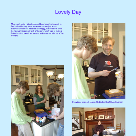 Tabblo: Lovely Day