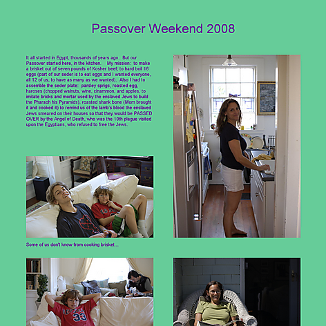Tabblo: Passover Weekend 2008