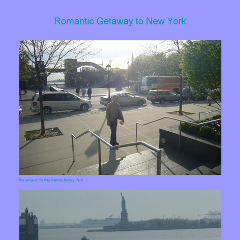 Tabblo: Romantic Getaway to New York