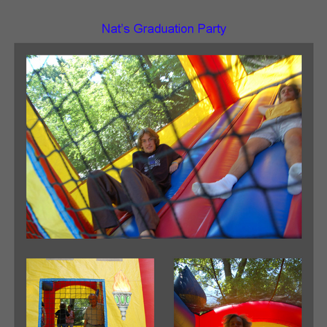 Tabblo: Nat's Graduation Party