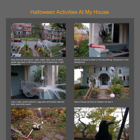 Tabblo: Halloween Activities At My House