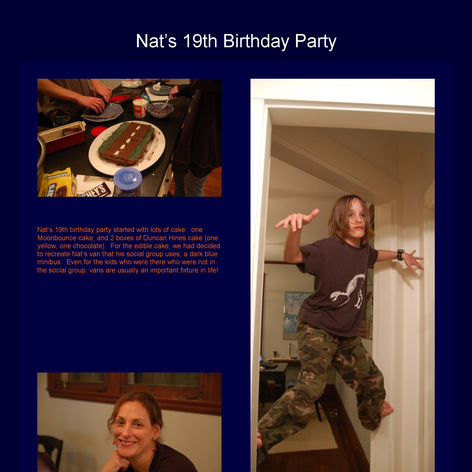 Tabblo: Nat's 19th Birthday Party