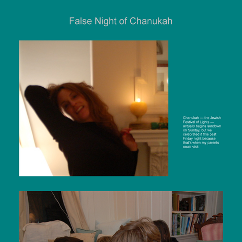 Tabblo: False Night of Chanukah