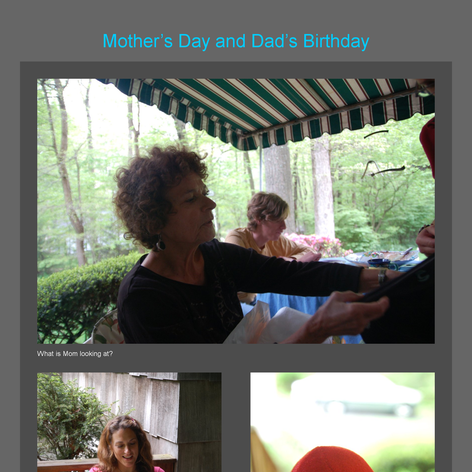 Tabblo: Mother's Day and Dad's Birthday