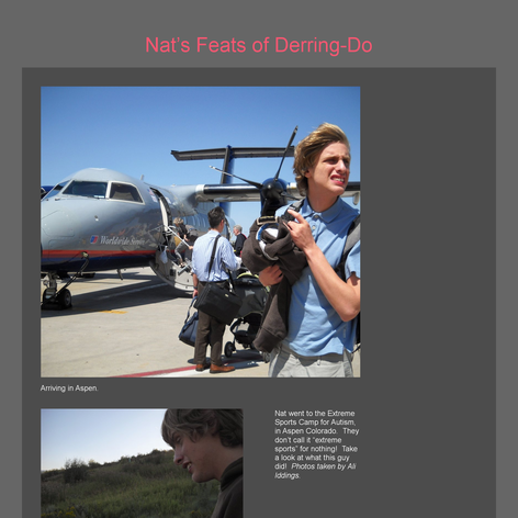 Tabblo: Nat's Feats of Derring-Do