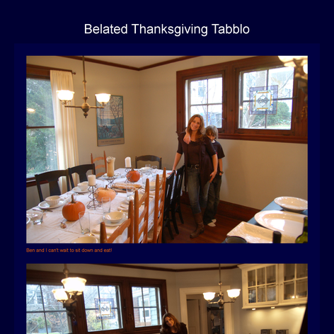 Tabblo: Belated Thanksgiving Tabblo
