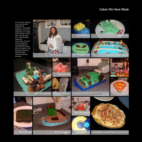 Tabblo: Cakes We Have Made