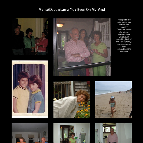 Tabblo: Mama/Daddy/Laura You Been On My Mind