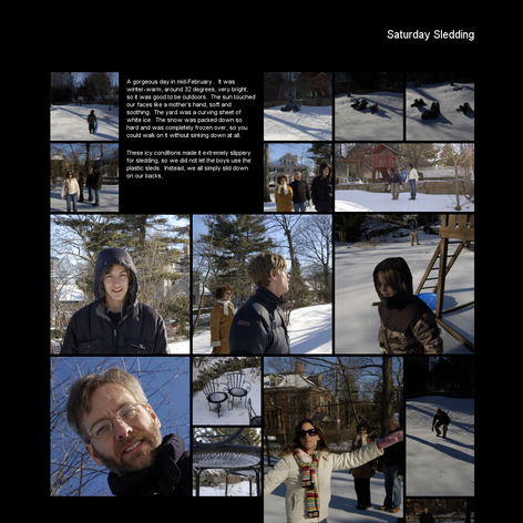 Tabblo: Saturday Sledding