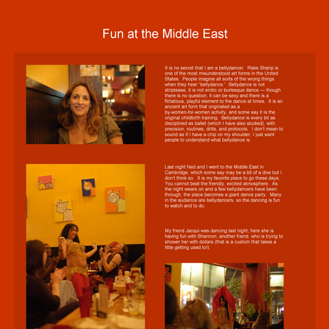 Tabblo: Fun at the Middle East