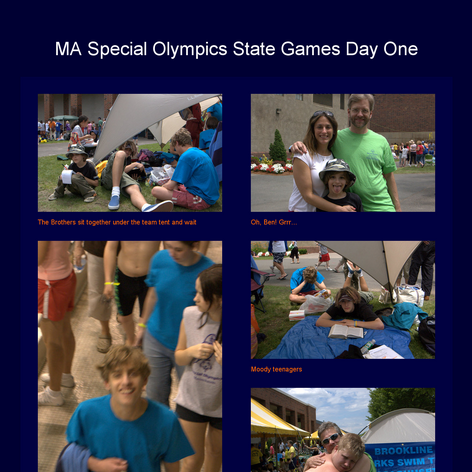 Tabblo: MA Special Olympics State Games Day One
