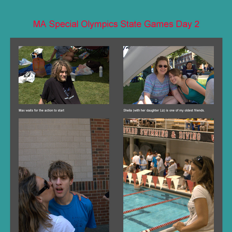 Tabblo: MA Special Olympics State Games Day 2