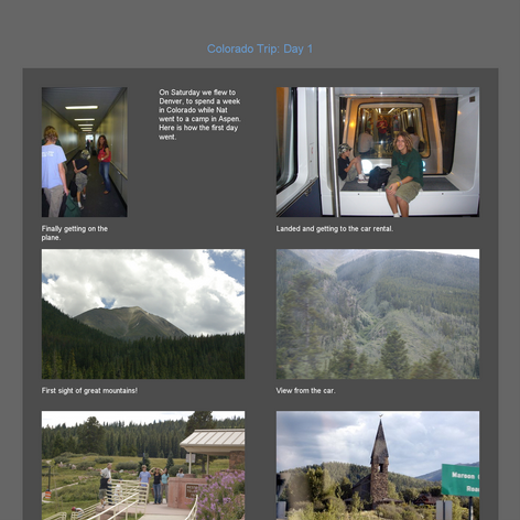 Tabblo: Colorado Trip:  Day 1