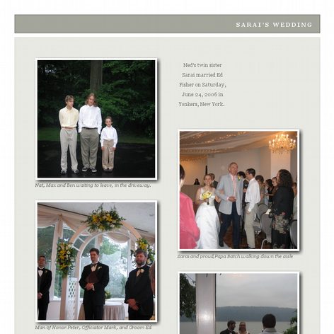Tabblo: Sarai's Wedding