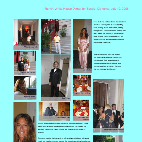 Tabblo: Remix:  White House Dinner for Special Olympics, July 10, 2006